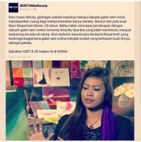 Naserimah Berita Mediacorp Art Therapist Interview