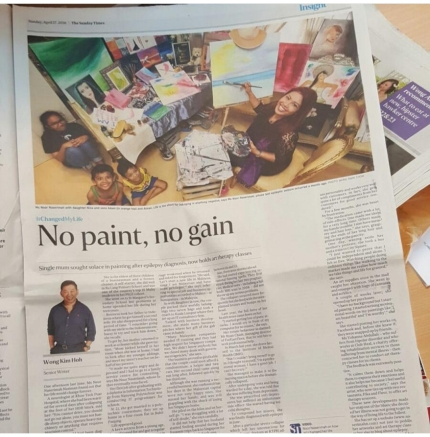 Naserimah The Straits Times Art Therapist Interview