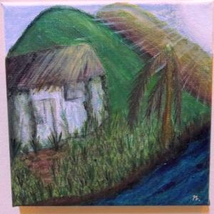 "Title : ""Abandoned Village"""