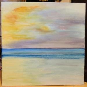 "Title : ""Purple Sunrise in Bali"""