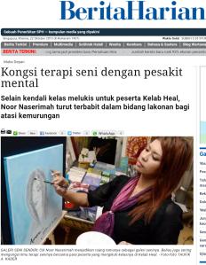 Naserimah Berita Harian Front Cover Art Therapist