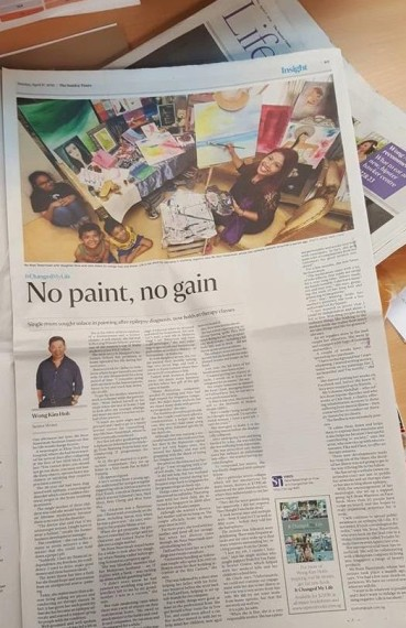 Straits Times Full Page Art Therapy Interview