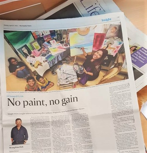 Naserimah Straits Times Art Therapy